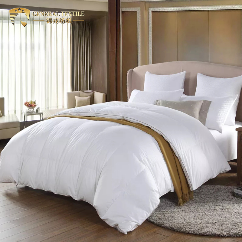Lightweight Summer Down Duvet 90% White Goose Down Duvet Pure Cotton Cover Anti-Mite down Comforter King Size