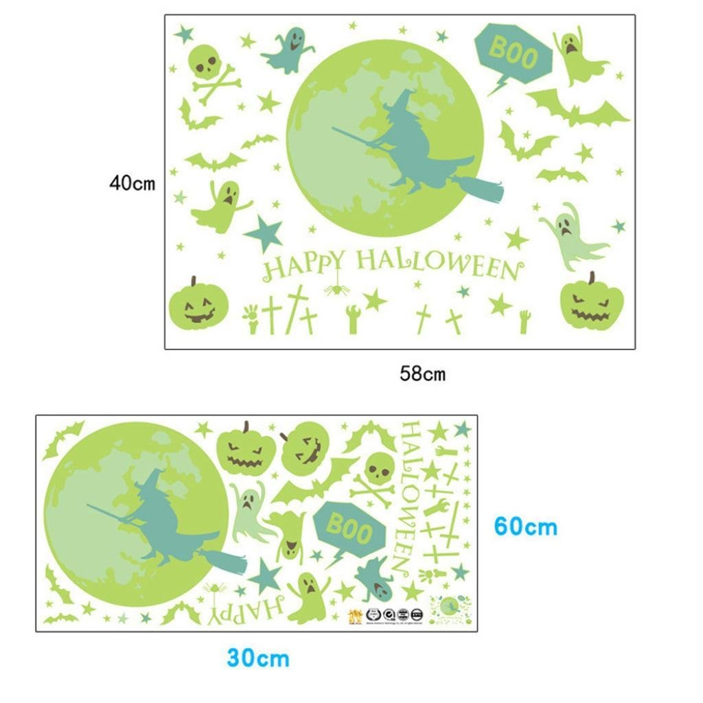 Rumas Happy Halloween Household Room Floor Wall Sticker Mural Decor Decal Removable