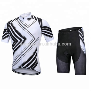 Wholesale Custom Cycling Clothes Sublimation Cycling Jersey and Shorts sets