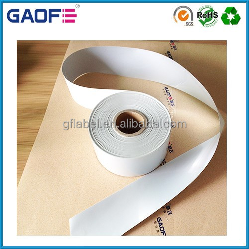 China Manufacturer Barcode Label Roll Thermal Transfer Polyester Label Material Waterproof PET Roll Label