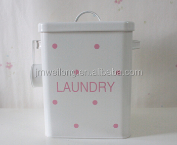2018 Household Large Capacity Metal Laundry Powder Box Tin Storage Container