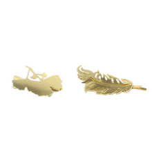 Hot Sale Gold Plated Two Design Hair Jewelry Maple Leaf Cedar Leaf Hair Clip For Women