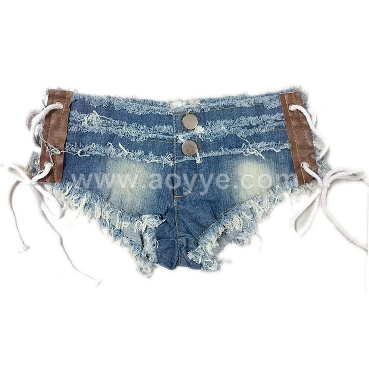 New Fashion Girls Low Waist Tiny Sexy Denim Shorts Women Night ...