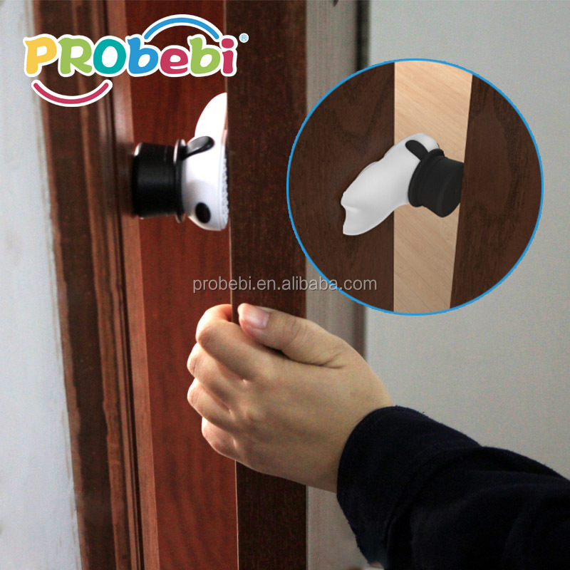 rotating doorstopper door draft stopper door pinch guard