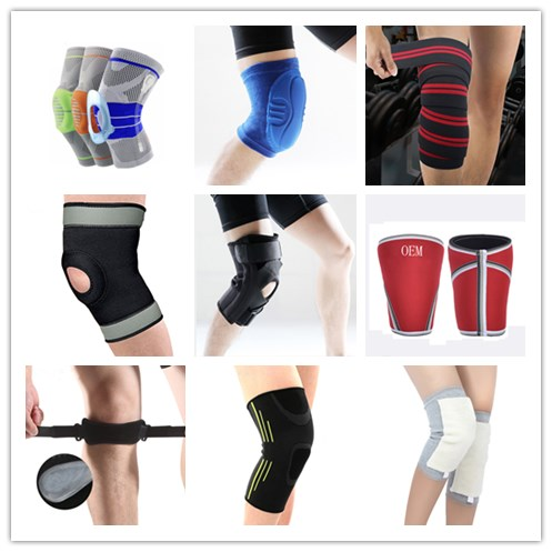 black leather knee pads