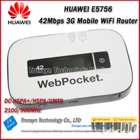 Original Unlock DC-HSPA+ E5756 43.2Mbps Wireless 3G Router Support HSPA+/HSPA/UMTS 2100/900MHz