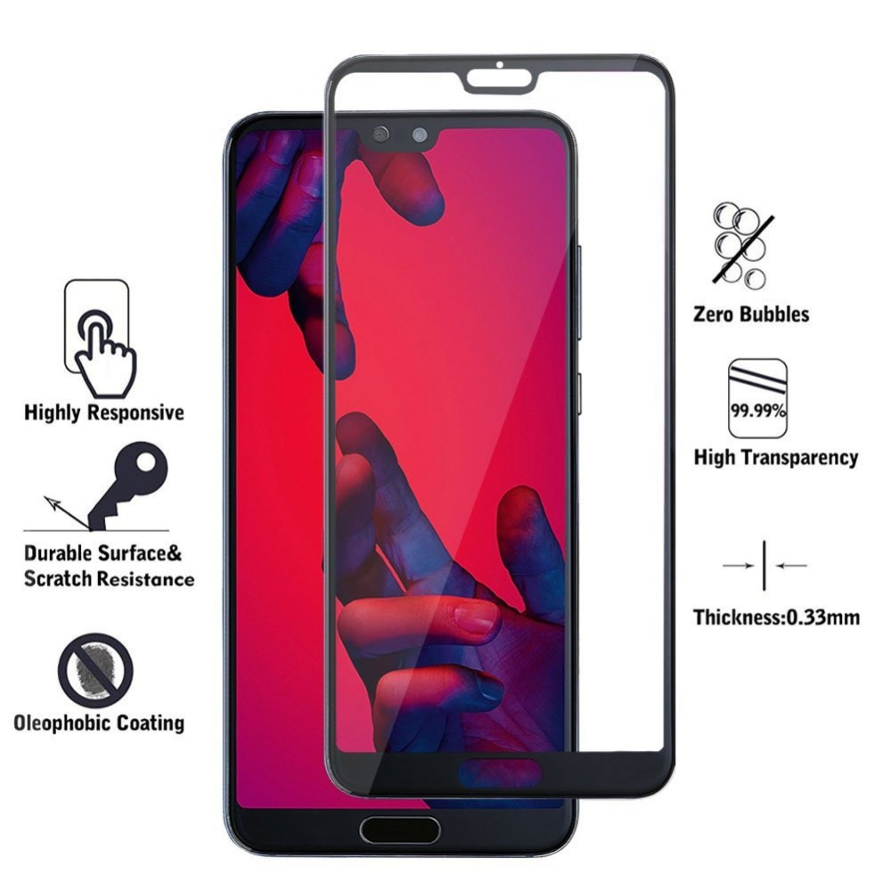 9H 5D 0.3mm tempered glass screen protector for Huawei P20 P 20 Pro P20 Lite full protective film