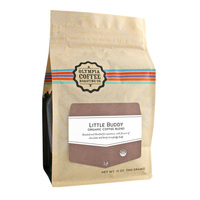 Flat Bottom Brown Kraft Paper Stand Up Ziplock Pouch Coffee Packaging Bag For Small Coffee Bean
