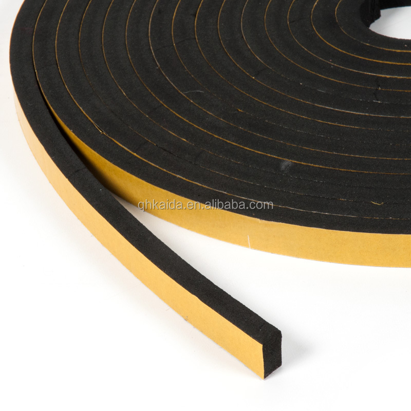 EPDM adhesive tape closed cell foam rubber seal strip