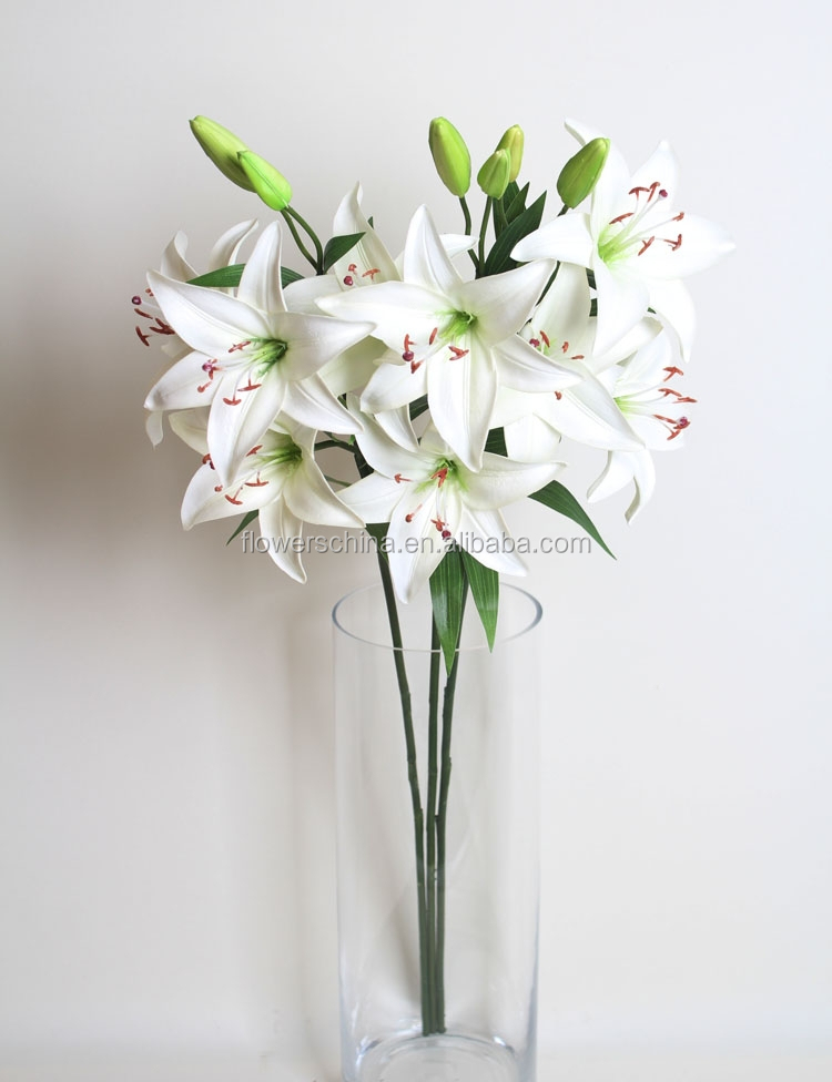 China Factory Direct H86cm White Silk Wedding Flowers Artificial