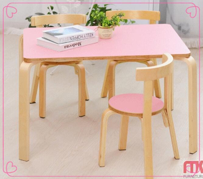 chine usine pas cher eco ami en bois enfants table et. Black Bedroom Furniture Sets. Home Design Ideas
