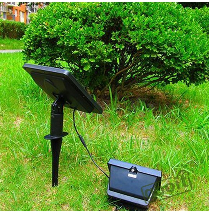 New Outdoor Garden 8 Led Solar Shed Eaves Work Light Lamp: Solar Lamps 40 LED Path Spot Wall Mount Outdoor Lawn Light