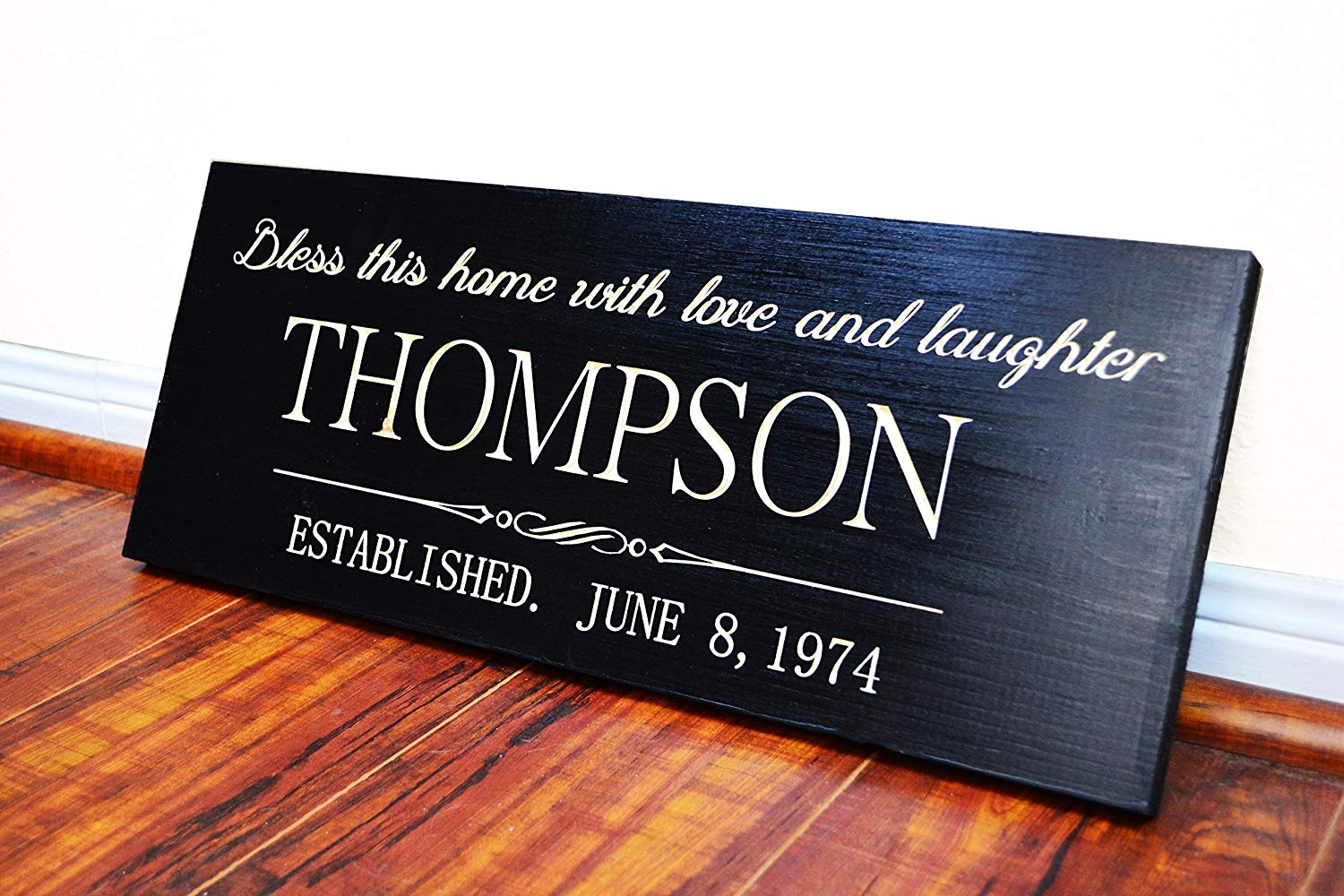 FAST SHIPPING Personalized Family Name Sign Wedding Gift Custom Carved Wooden Signs Last Name Décor Established Wood Plaque Engraved .sign#231