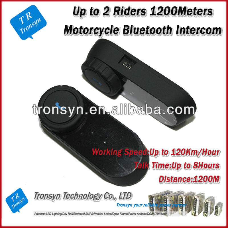 Wholesale China 1000M motorcycle helmet bluetooth headset/intercom