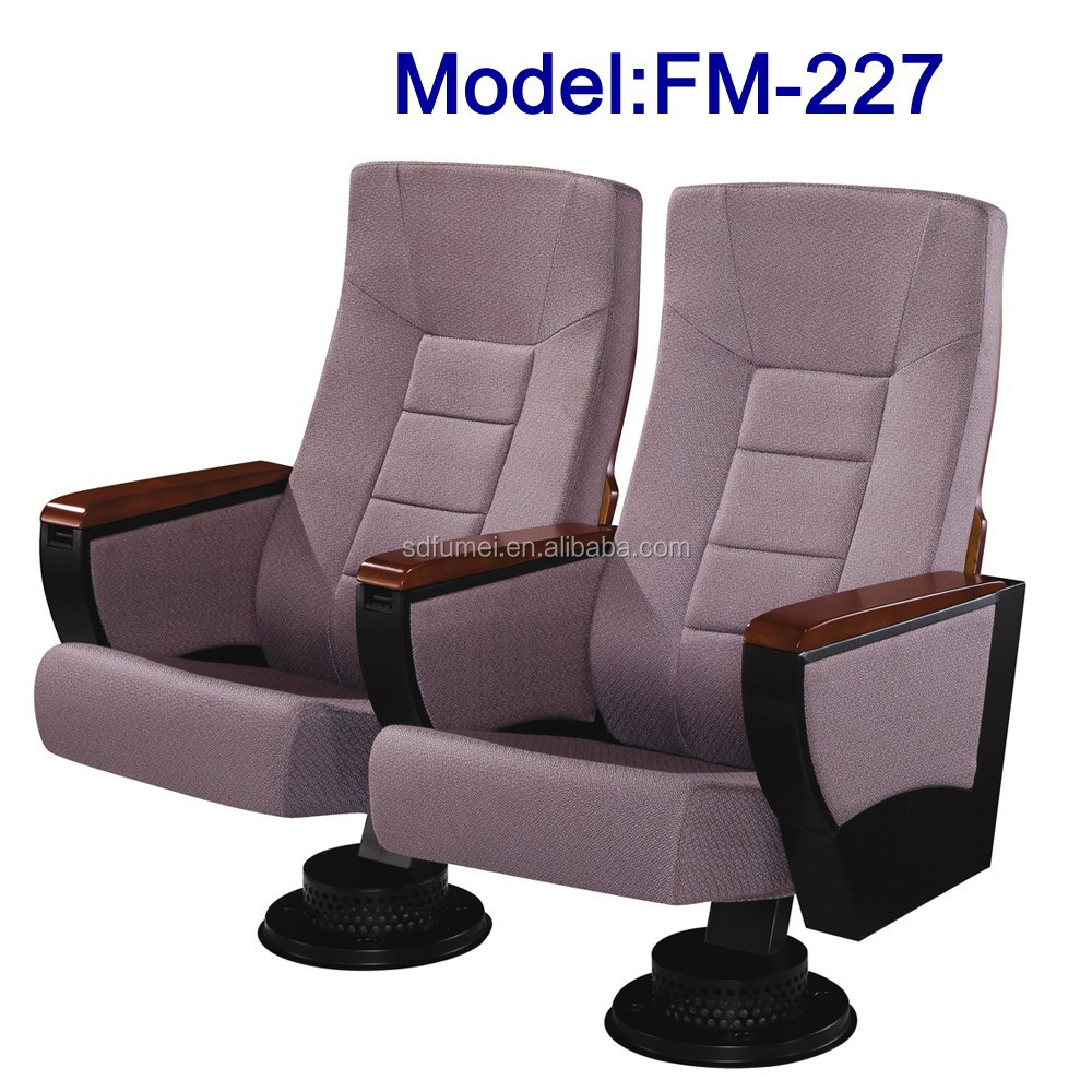 No.FM-227 High back comfortable auditorium folding seat with writing table