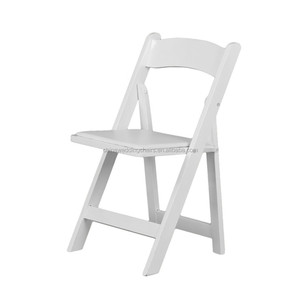 global trade outdoor white wedding folding chair