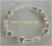 Thai Karen Hill Tribe Sterling Silver in 3D bead style Bracelet