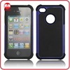 Hot Selling Ballistic Soft Rubber inside Hard PC outside Hybrid Dream Net Combo Case for iphone4 4S