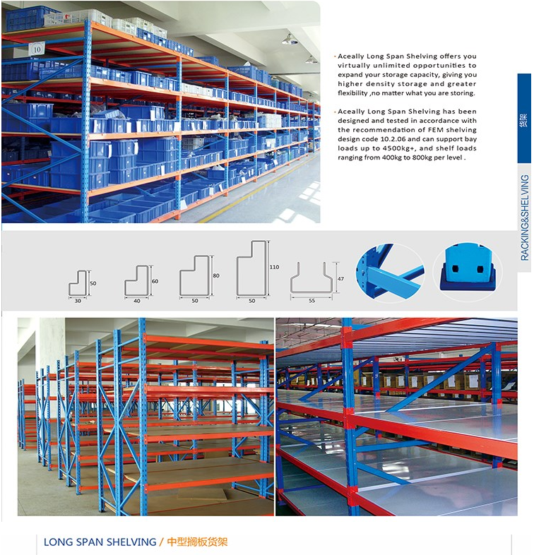 Nanjing Long span shelving, medium duty rack factory price