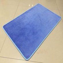 Non-slip washable custom foam floor mat water absorb bath mat