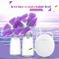 oem high-end double milk pump Intelligent touch usb electric silicone pp dual breast pump