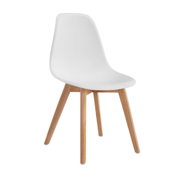 Cheap Modern White Polypropylene Wooden Legs Kitchen Chairs Plastic Dining  Chairs Price - Buy Cheap Plastic Chair Price,Modern Plastic Chair,Modern Pp  ...