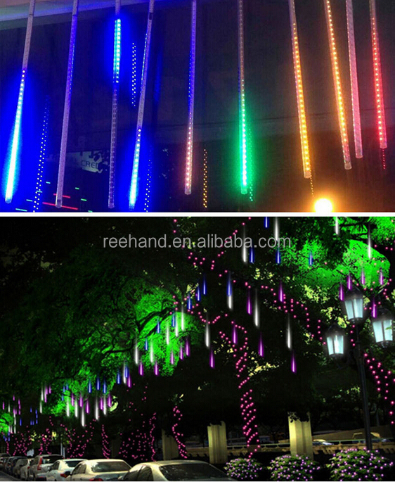 solar power christmas led raindrop light for plazaoutdoor decoration meteor shower rain led christmas - Raindrop Christmas Lights