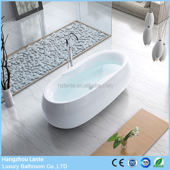Marvelous Sanitary Ware Egg Shaped Shallow Bathtubs