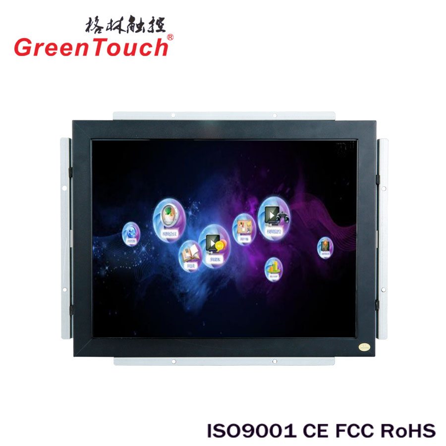 Green Touch Made SAW touch screen 19 inch open frame lcd monitor