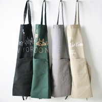 customized cotton fabric apron with logo custom in cotton