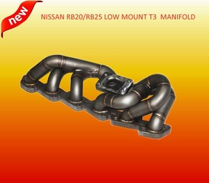 3mm Tube Thickness Schedule 40 low mount turbo exhaust manifold for n issan skyline rb20 rb25 r32 r33