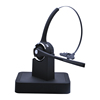 Handsfree Bluetooth Headset Wireless Earphone with Noise Reduction Mic for Trucker Office Call Center with Charge Base