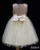 D30324 Graceful Embroidery Sequined Flower Girl Dress