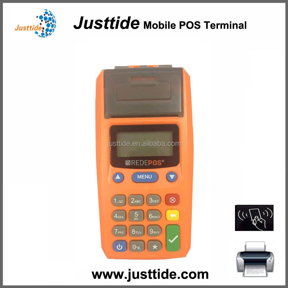 Low price JUSTTIDE pre-pay POS machine, GPRS printer POS machine, handheld POS machine