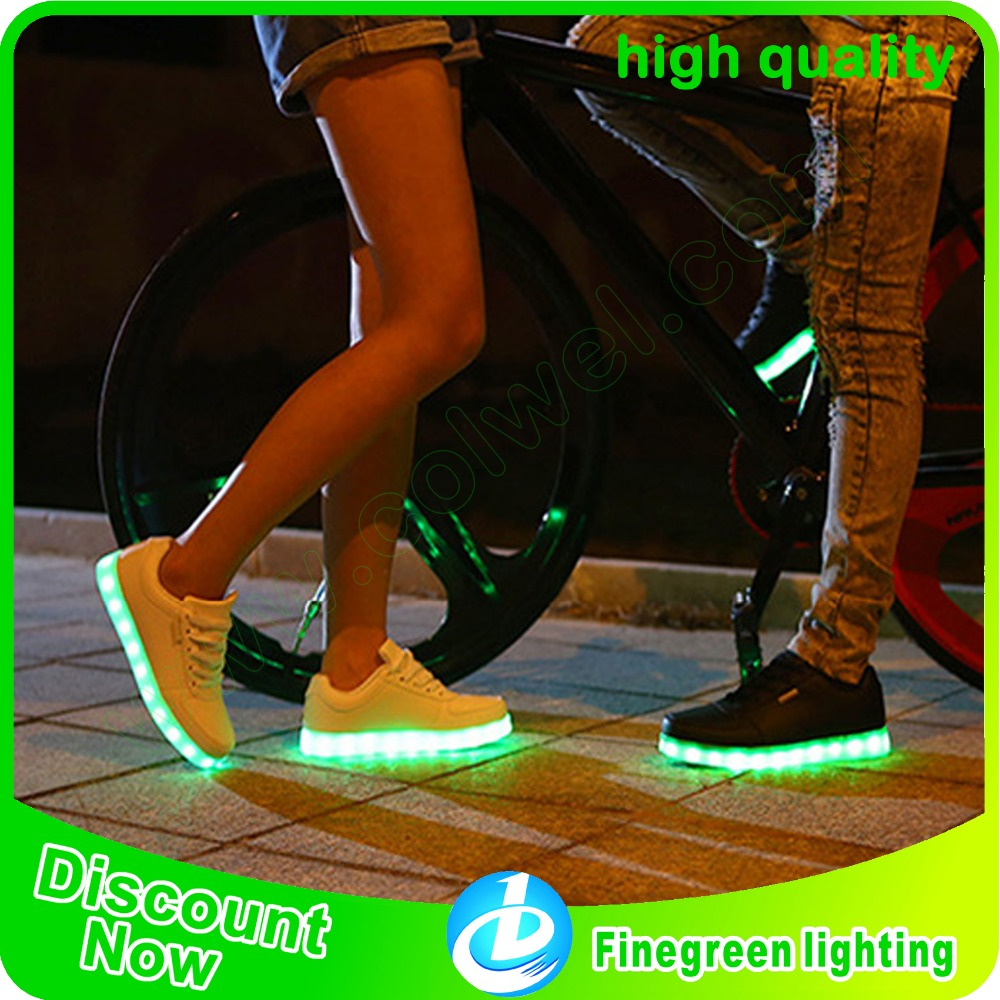 2016 hot selling unsex led shoes for adult and children