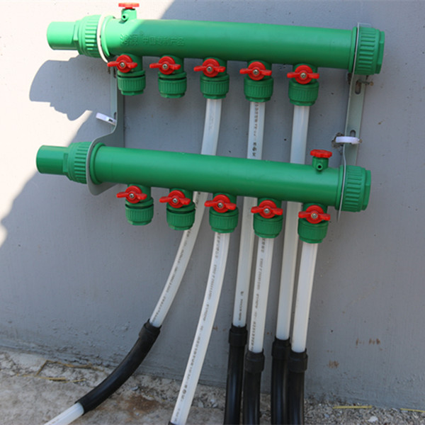 4 port manifold ppr pex pipe whole system for underfloor for Pex pipe for hot water heating