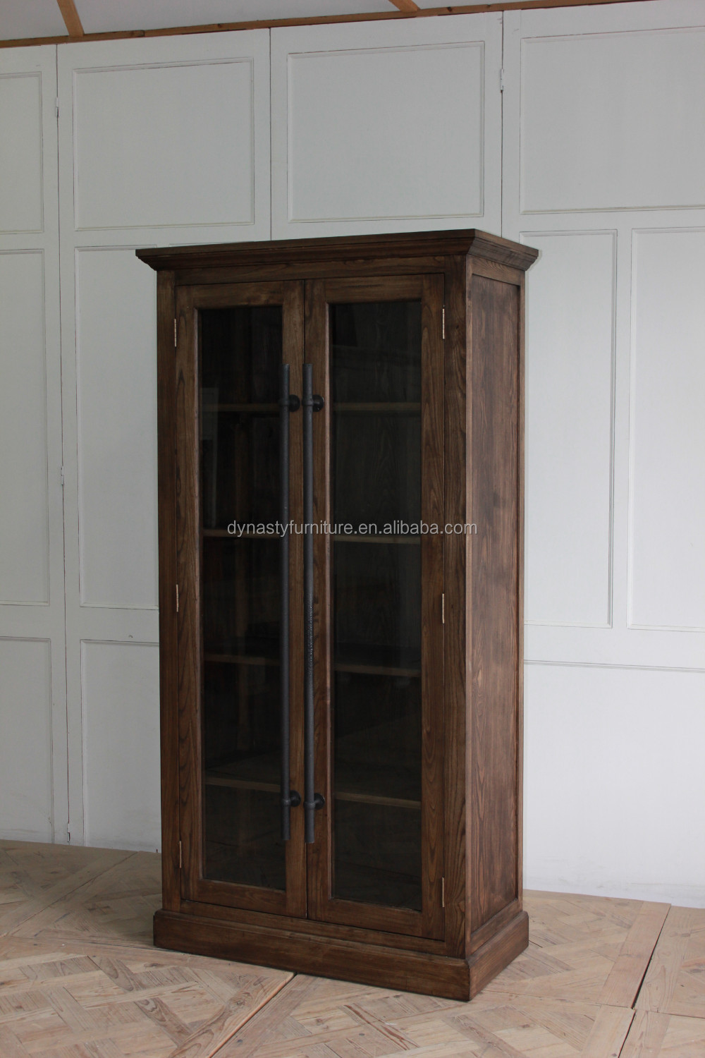Hot Sale Antique Solid Wood Glass Door Kitchen Cabinet Buy Kitchen Cabinet Wood Kitchen