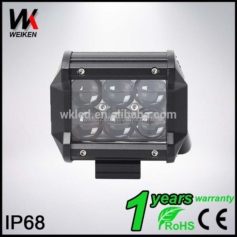 WEIKEN12v led tractor work light 4inch 18w 4x4 Offroad 4D LED lightbar