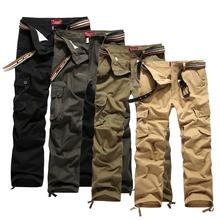 Plus size 30-44 Men's Cargo Pants Casual Mens Pant Multi Pocket cargos trousers Men Long pant P45