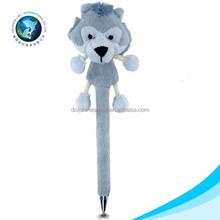 Wholesale plush toy pen cute white wolf plush toy soft kids toy stuffed pen