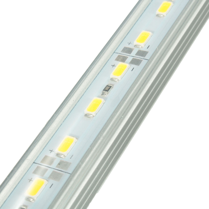 Aluminium Koud/Warm Wit Led Bar Licht 50 cm 36 LED Strip Licht 12 V DC 5630 SMD Bestelwagen Caravan Aquarium