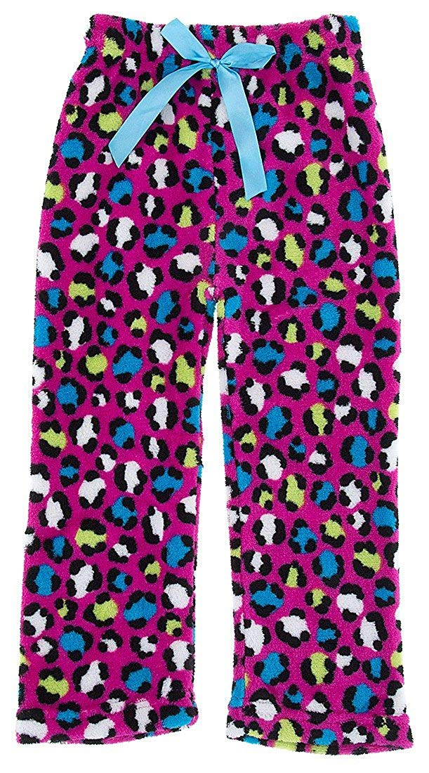 Sweet & Sassy Little Girls' Pink Leopard Fleece Pajama Pants