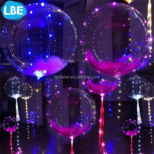 hot white led glowing balloons with mini led balloon lights