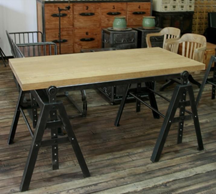 loft industriel am ricain de style meubles r tro fer forg bois bureau bureau combinaison de. Black Bedroom Furniture Sets. Home Design Ideas