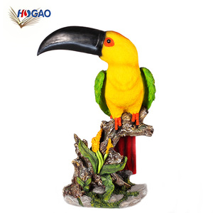 Best sellers in Europe 2018 furniture resin animal large bird statues