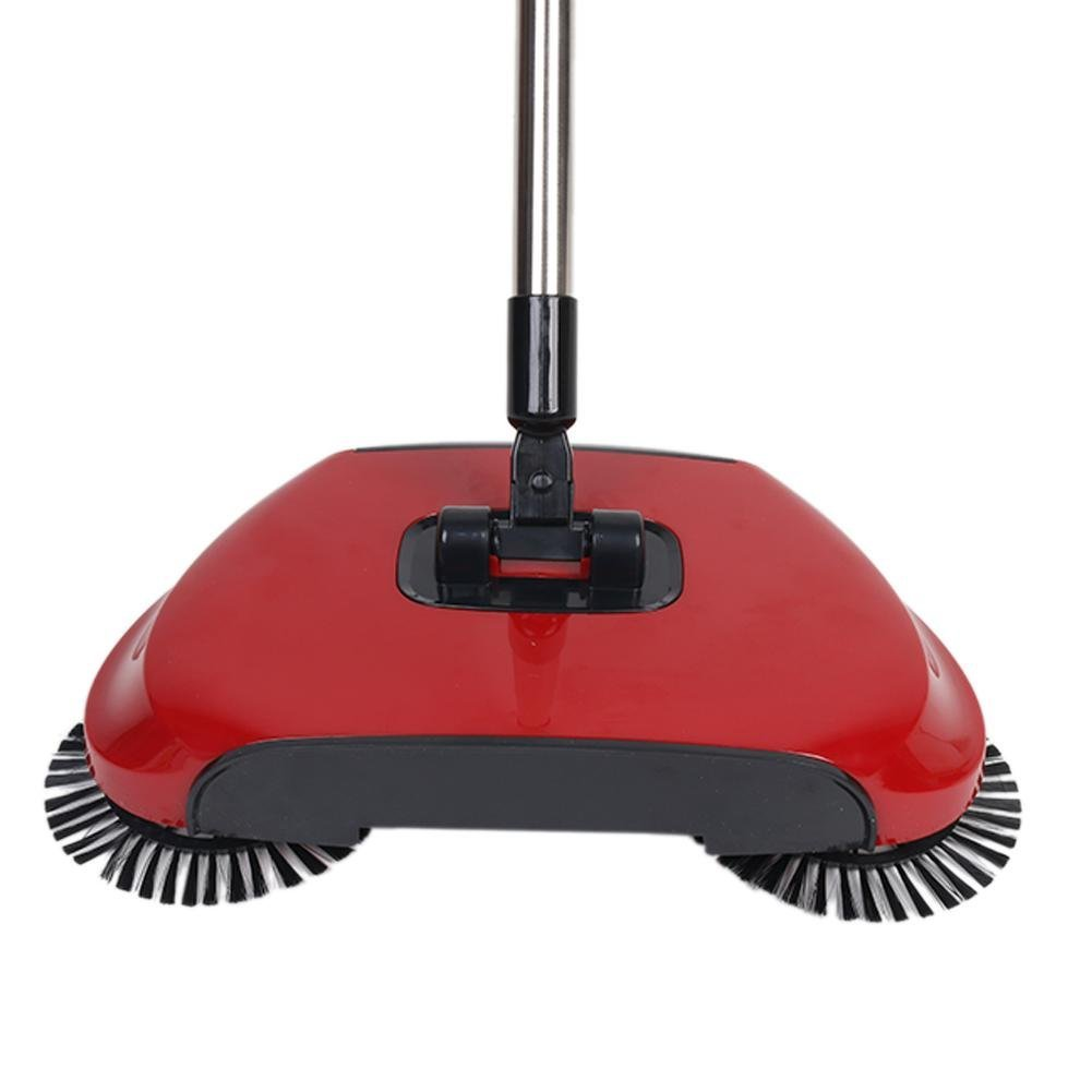 360 Degree Rotating Household Automatic Hand Push Sweeper Broom, Multi-Functional Profession Vacuum Cleaner Sweeping Robot without Electricity, 3 in 1 Dustpan and Trash Bin Floor Cleaning System