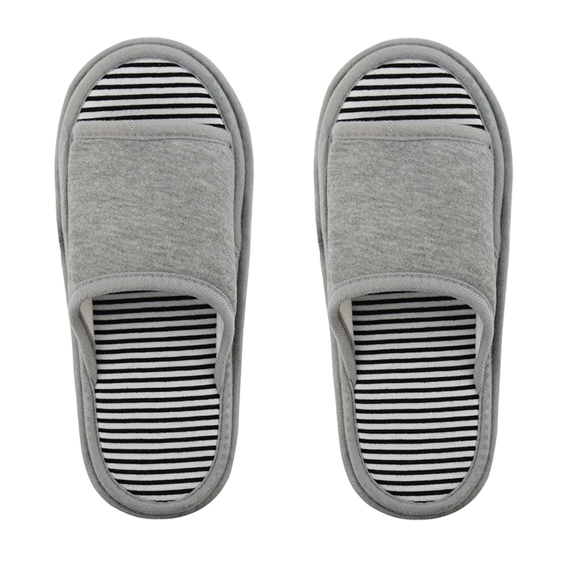 Unisex Slipper Floor Cleaning Mop Men and Women House Slippers Dust Cleaning Tool Slipper Genie (Grey, Women 7-10/Men5-8)