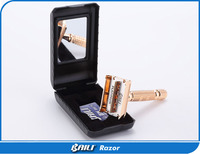 Classic Travel Case Double edge Feather Blade Safety Razor