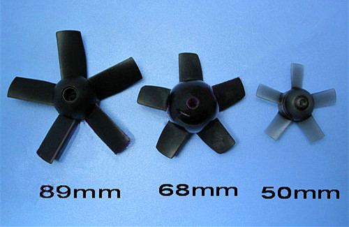 RC Accessories 5 Blade Ducted Fan Propeller 50mm/68mm/89mm Propeller For Fixed-wing RC Aircraft