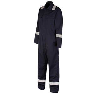 High Quality Flame Retardant Coverall With Reflective Tape Making Machine Coverall